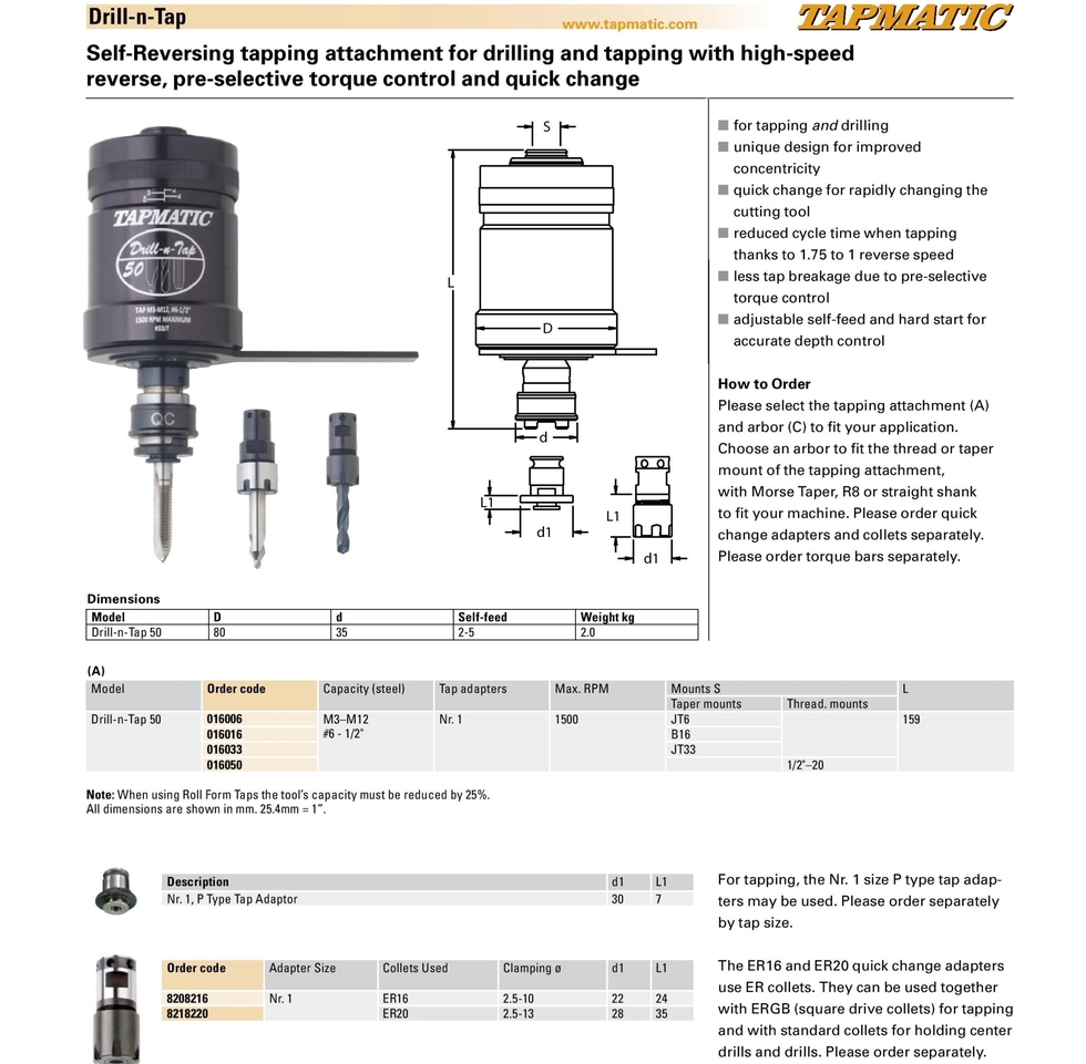 Tapmatic Drill-n-Tap website 01